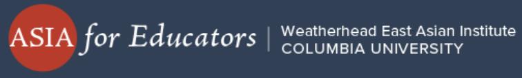 Logo of Asia for Educators - Online Programs